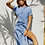 Thumbnail: sustainable cotton open back dress