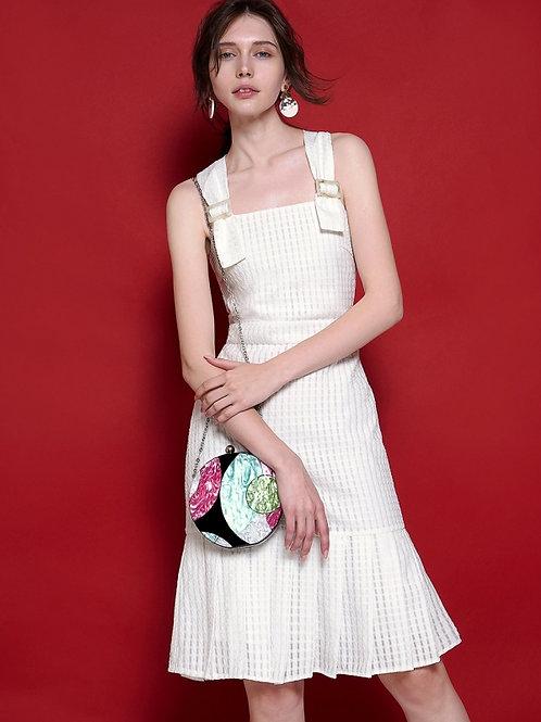 Delicate jacquard fabric dress