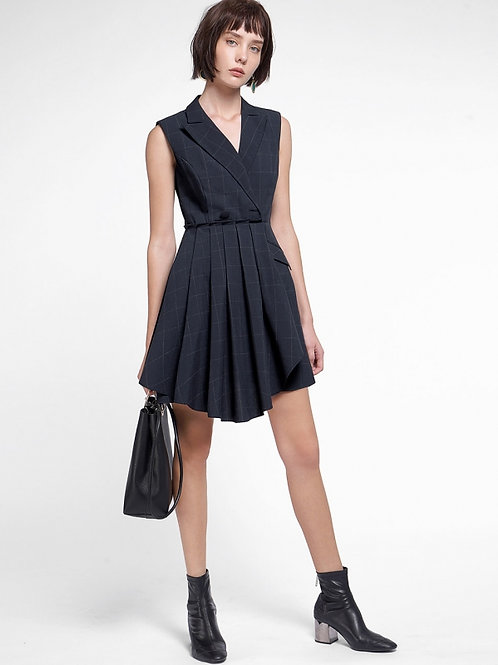Retro style crepe & spandex Dress