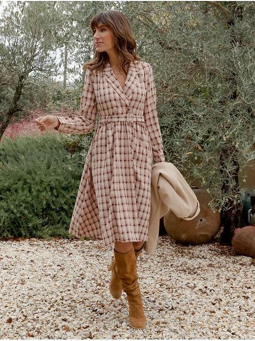 Checked print dress
