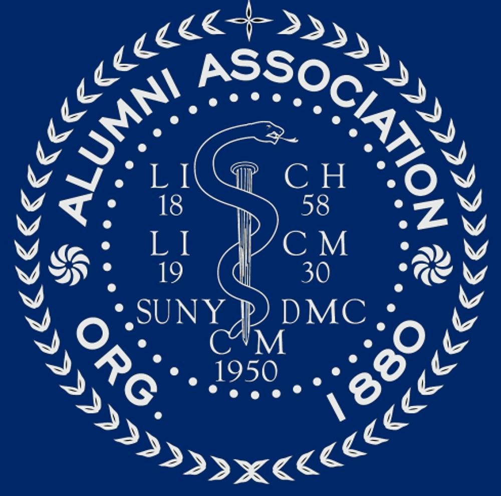 circle logo white on blue