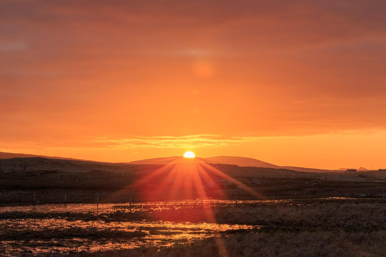 Sunrise over the machair