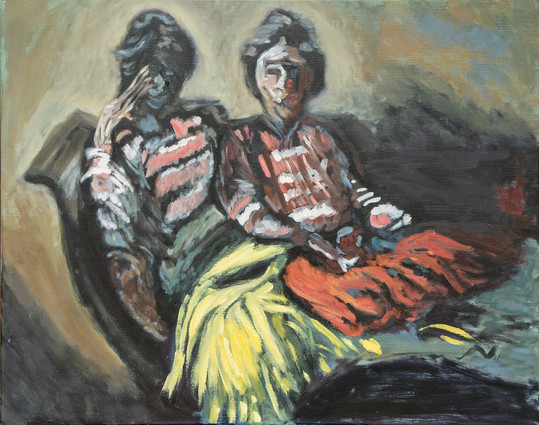Two Women on a Sofa - A study after Walter Sickert