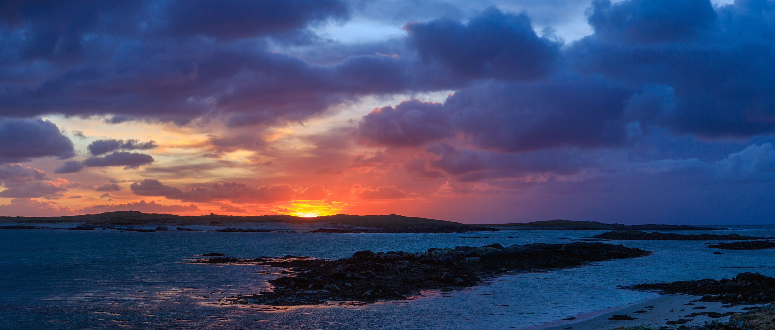 Purple sunset in the Outer Hebrides