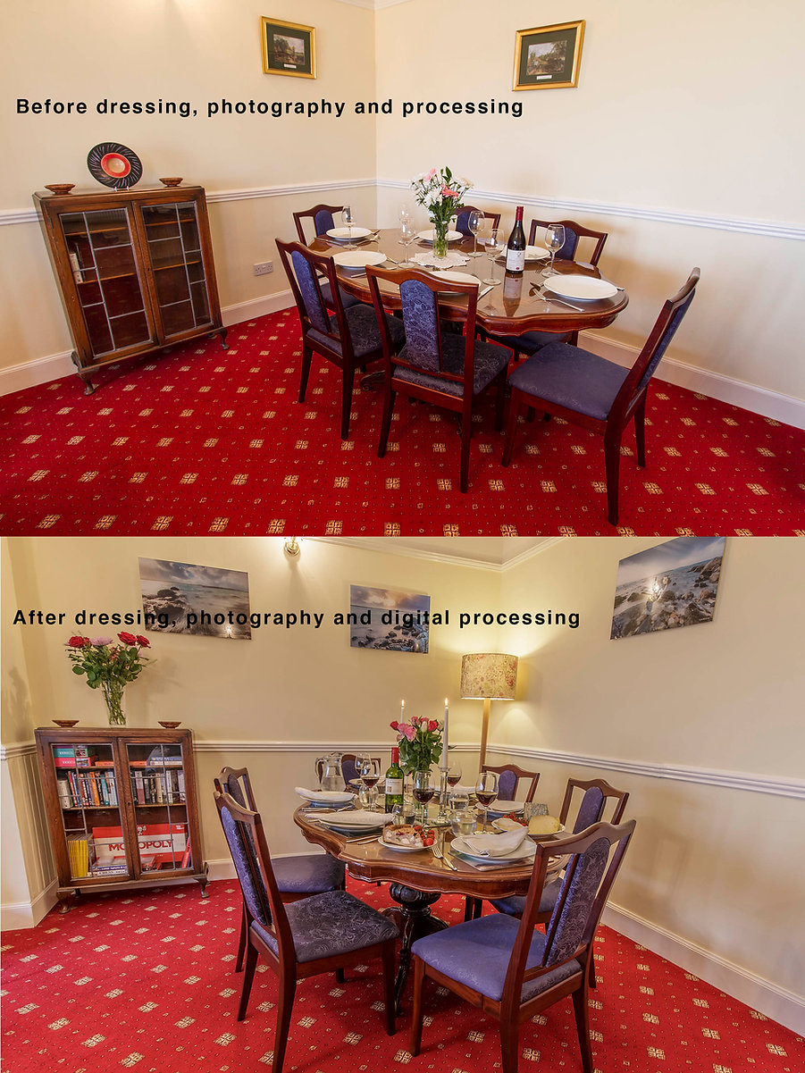 interior photography, self catering cottage photography