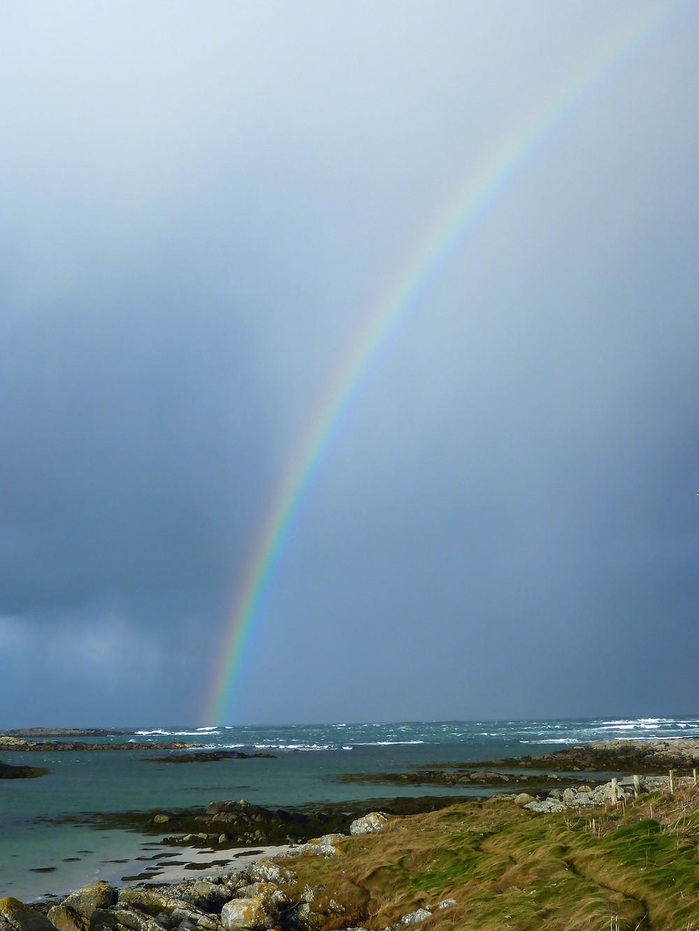 Rainbow, Balranald, North Uist, Outer Hebrides