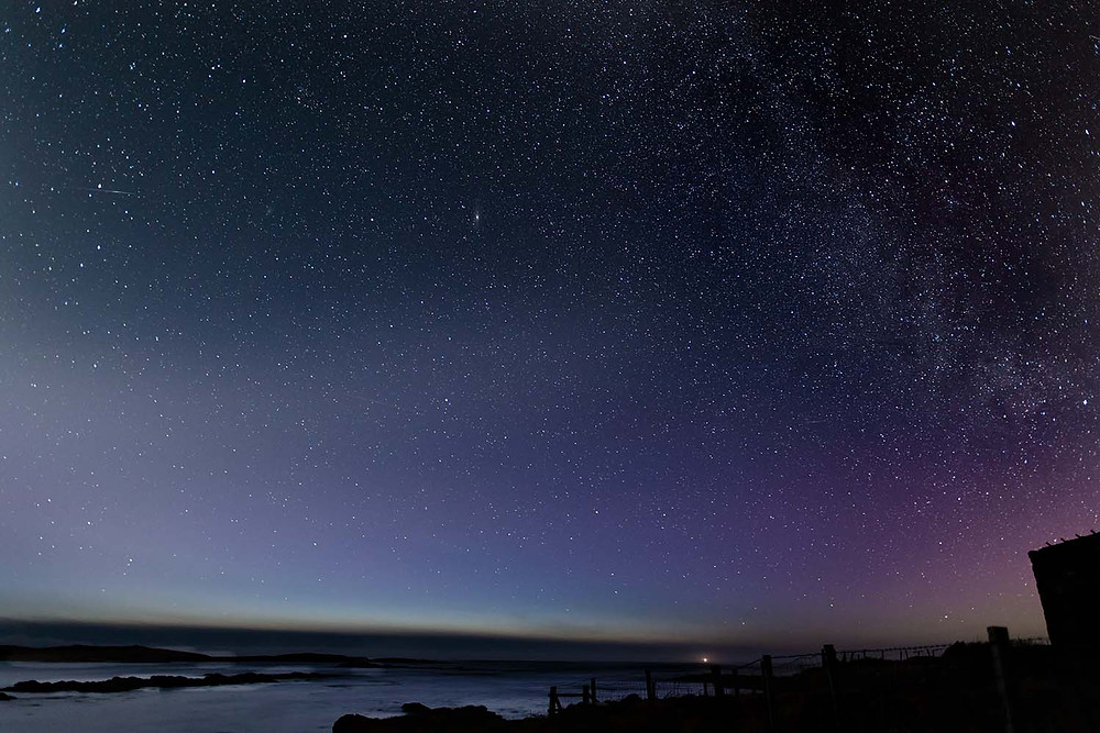 The Aurora over Balranald bay