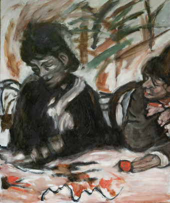 A Study after Degas, Two Women in a Cafe
