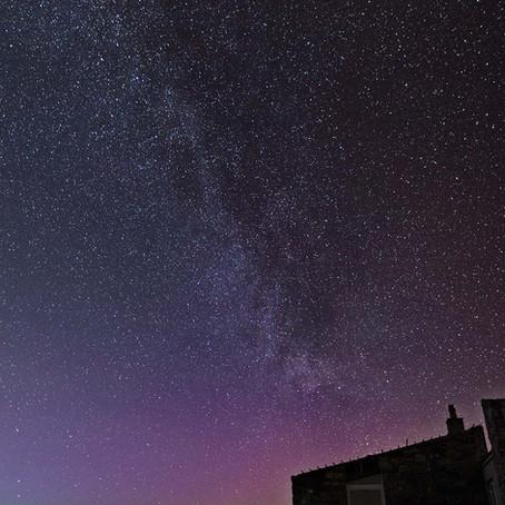Milky Way and Aurora Borealis