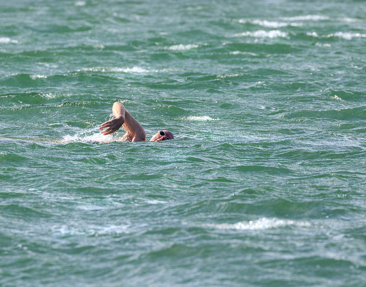Wild swimming in North Uist