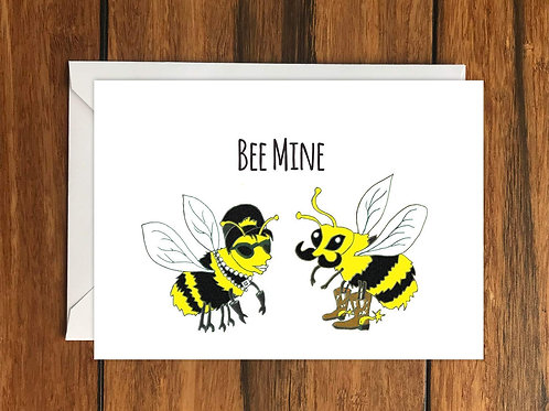 Bee Mine Greeting Card A6