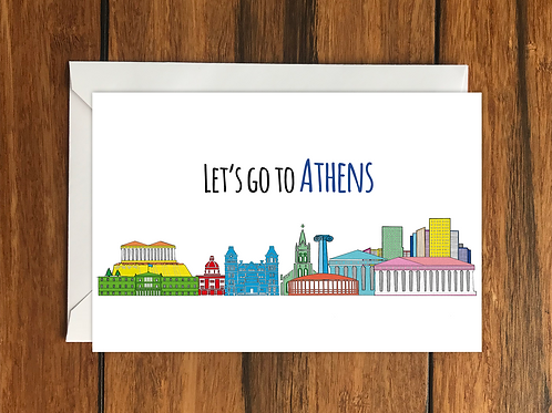 Athens greeting card
