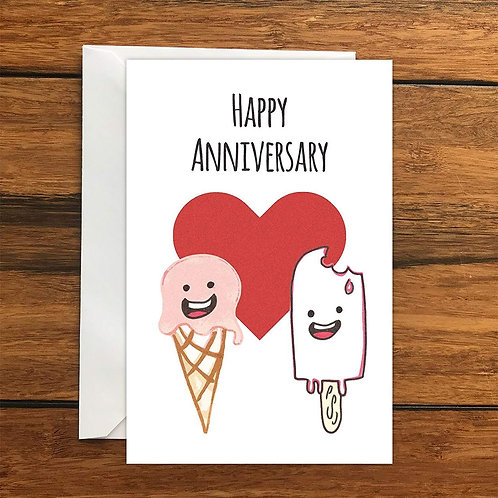 Happy Anniversary Greeting Card A6