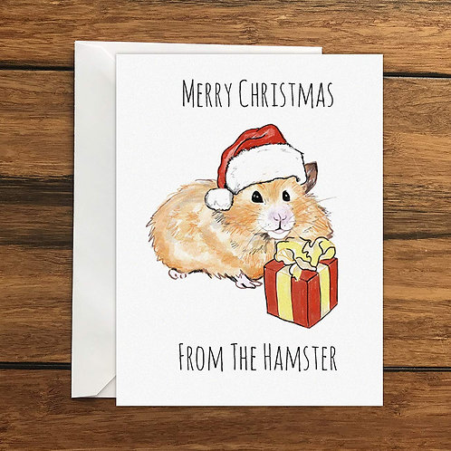 Merry Christmas From The Hamster Greeting Card A6