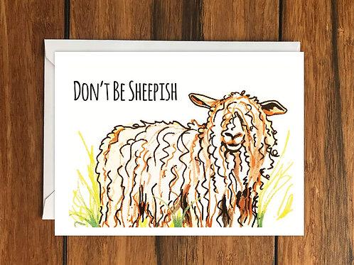 Don't Be Sheepish greeting card A6