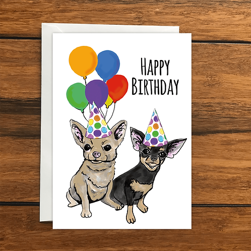 Happy Birthday dog greeting card A6