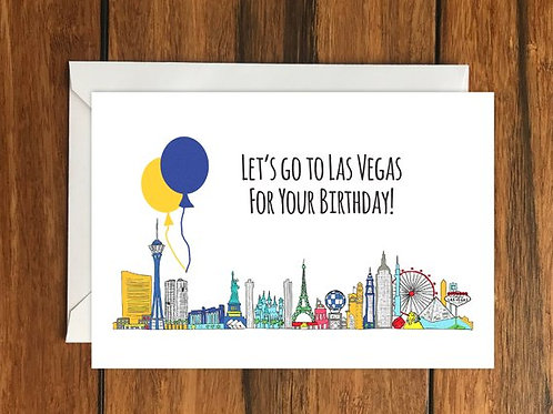 Las Vegas Birthday Card