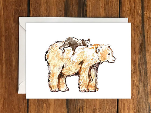 Bear Hugs Greeting Card A6