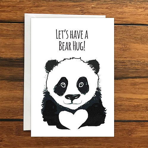 Let's have a bear hug greeting card A6