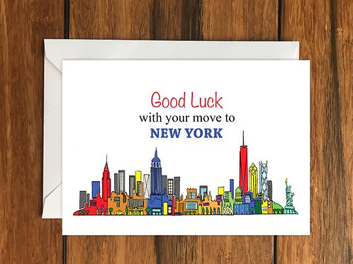 Moving to New York Card