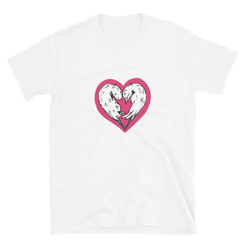 Ferret Love Heart Short-Sleeve Unisex T-Shirt
