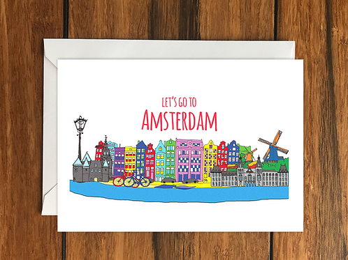 Amsterdam holiday card