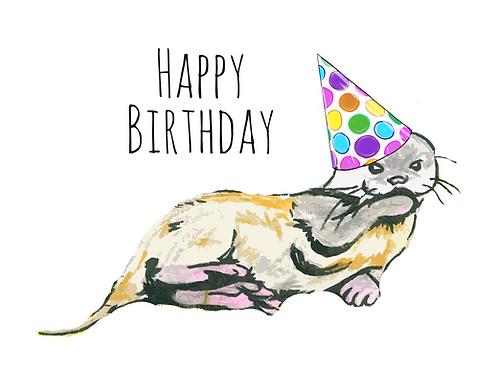 Birthday Otter Digital Card Powerpoint
