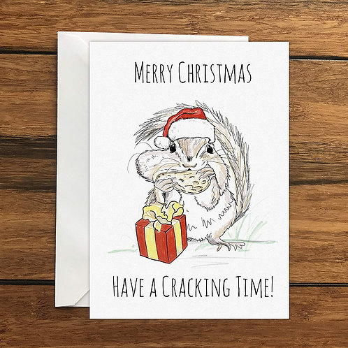 Merry Christmas Have a Cracking Time Greeting Card A6