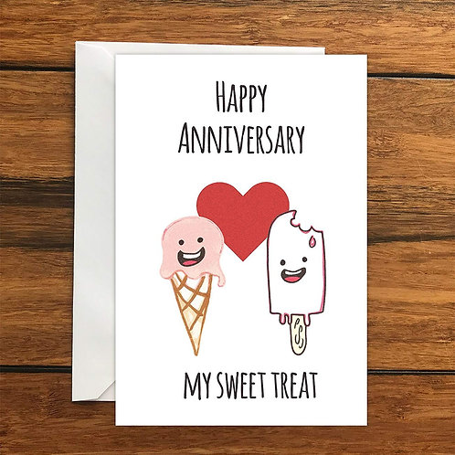 Happy Anniversary My Sweet Treat Greeting Card A6