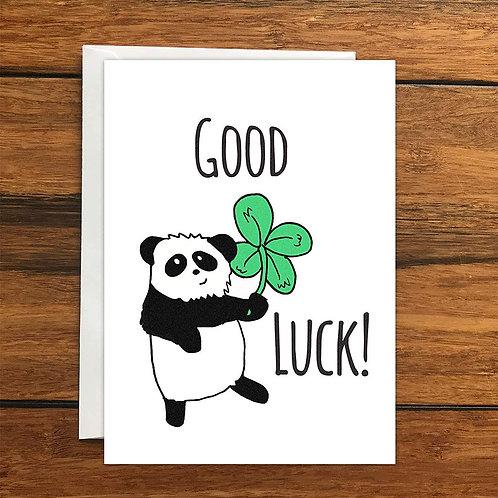 Good Luck Panda greeting card A6