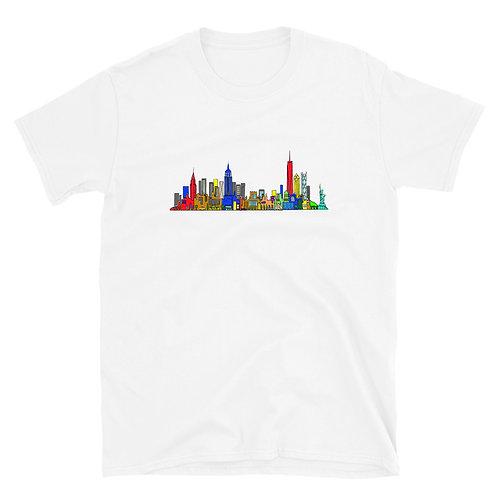 New York Skyline Short-Sleeve Unisex T-Shirt
