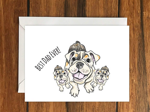 Best Dad Ever! Fathers Day Greeting Card A6
