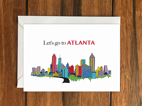 Altanta greeting card