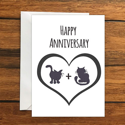 Happy Anniversary Cats greeting card A6