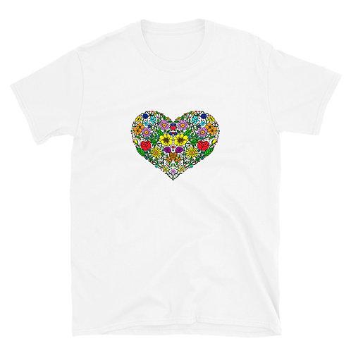 Flower Heart Short-Sleeve Unisex T-Shirt