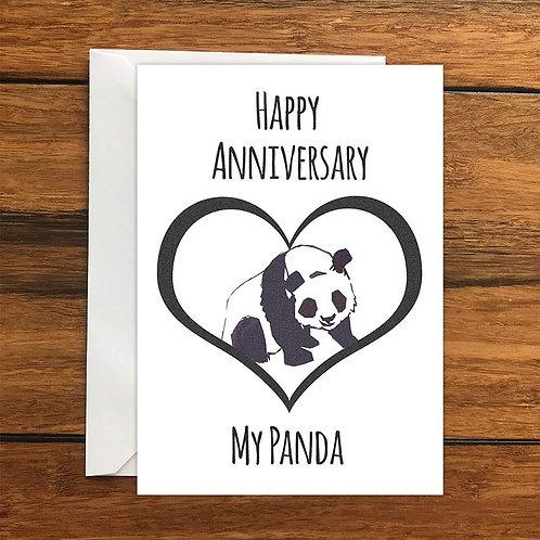 Happy Anniversary My Panda Greeting Card A6