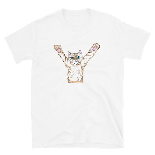 Arms out Cat Short-Sleeve Unisex T-Shirt