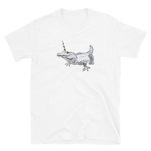 Crocodile unicorn Short-Sleeve Unisex T-Shirt