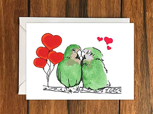 Love Birds Romantic Greeting Card A6