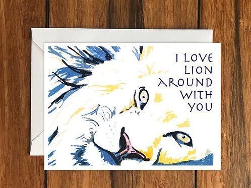Lion Romantic Card