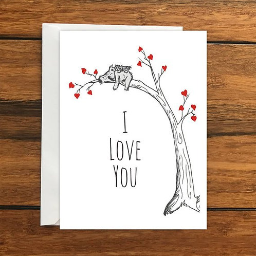 Koala Tree Romantic Card