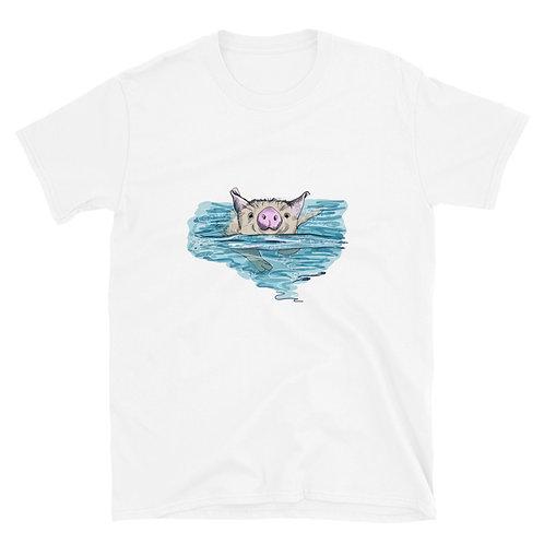 Swimming pig Short-Sleeve Unisex T-Shirt