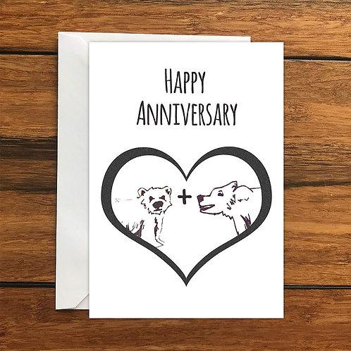 Happy Anniversary Bears greeting card A6
