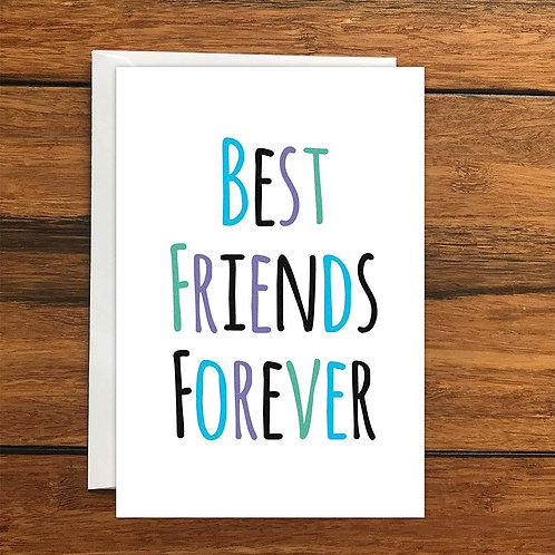 Best Friends Forever Greeting Card A6