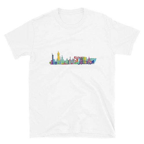 Glasgow Skyline Short-Sleeve Unisex T-Shirt