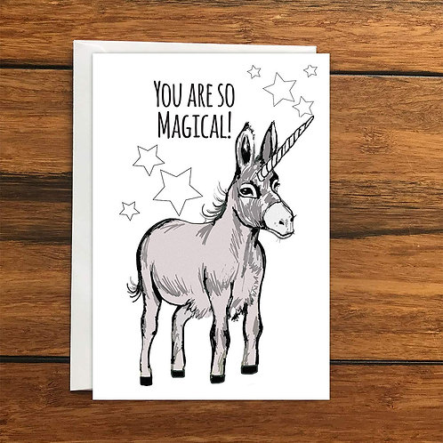 You are so magical Donkey greeting card A6