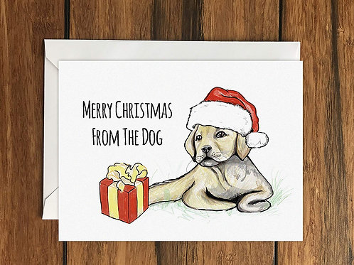 Merry Christmas From The Dog Greeting Card A6