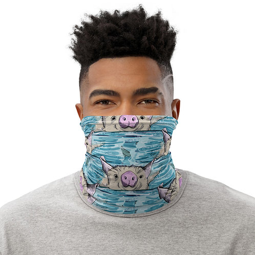 Swimming pigs Neck Gaiter Mask Unisex