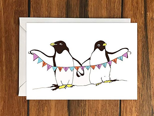 Be My Valentine Bunting Greeting Card A6