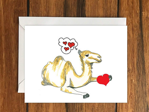 Camel Love Greeting Card A6